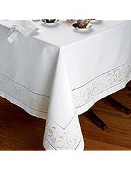 King S Way Tablecloths Ecru On White 70 X 126