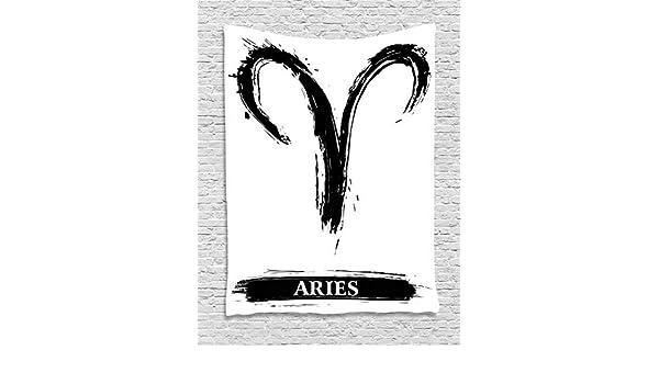 ABAKUHAUS Zodíaco Tapiz de Pared, Aries Astrologia Signo, para el ...