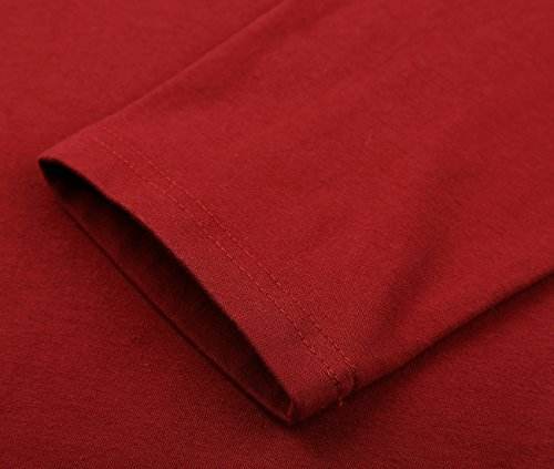 DJT Mujeres Vestido con Capucha Rojo