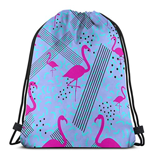 Colorful Seamless Pattern In Memphis Style With Customized Sports Pumping Rope Bag Is Suitable For Men And Women Outdoor Travel -