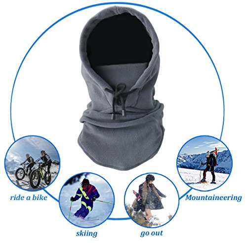 Joyoldelf Tactical Heavyweight Balaclava Outdoor Sports Mask for Outdoor hiking Camping Hiking Skiing Cycling and Other sports (Grey)