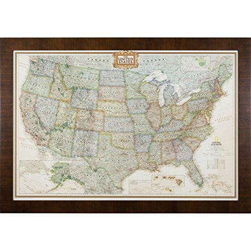[해외]크레이그 프레임 이그제큐티브 미국 여행지도/Craig Frames Executive US Travel Map