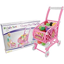 Hoopla Toys Kids & Toddler Pretend Play Toy Shopping Cart Set (48 Piece)