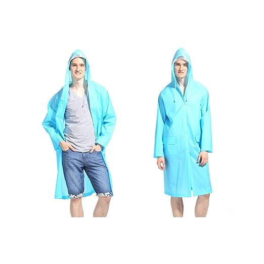 LvDD Raincoat Durable EVA Rain Cape Unisex Men Women Rain Poncho with Hat  Hood for Outdoor