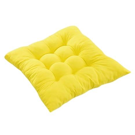 Cojines de Asiento Cojín Amortiguador de Sillas Comedor Al Aire Libre Jardín Muebles Decoración - Amarillo