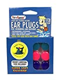 Putty Buddies Original Swimming Earplugs 3-Pair Pack (Purple/Teal/Magenta)