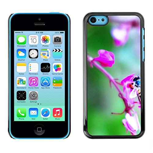 Soft Silicone Rubber Case Hard Cover Protective Accessory Compatible with Apple iPhone 5C - Plant Nature Forrest Flower 72
