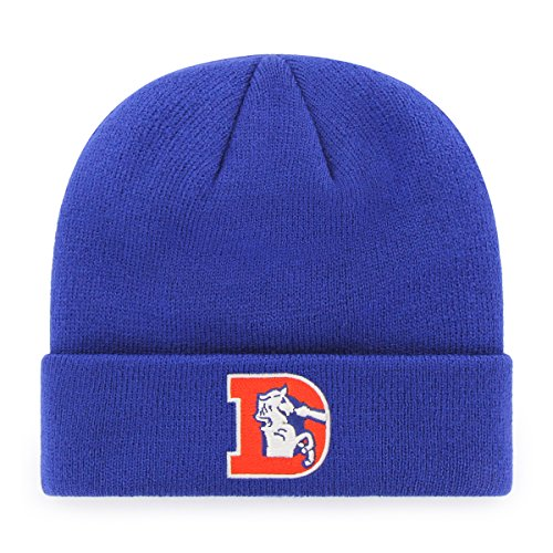 (OTS NFL Denver Broncos Legacy Raised Cuff Knit Cap, One Size, Royal)