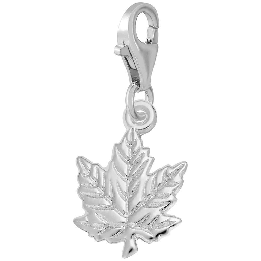 Rembrandt Charms Maple Leaf Charm with Lobster Clasp