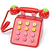 SUNLONG Red Wooden Telephone For 3 to 6 year's old kids