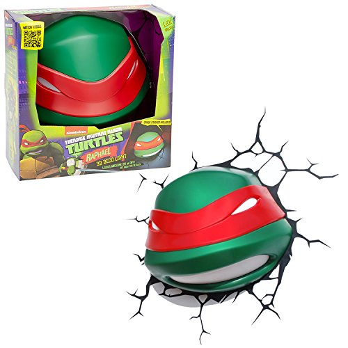 Teenage Mutant Ninja Turtles 3D Deco Night Light - RAPHAEL HEAD