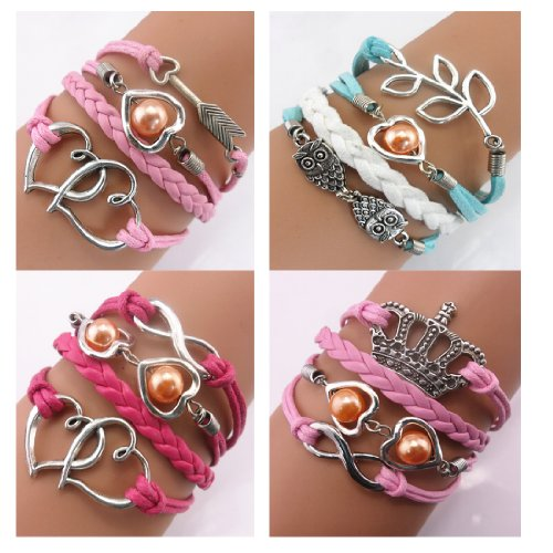 Braid Personalized Suede Leather Bracelet ($)