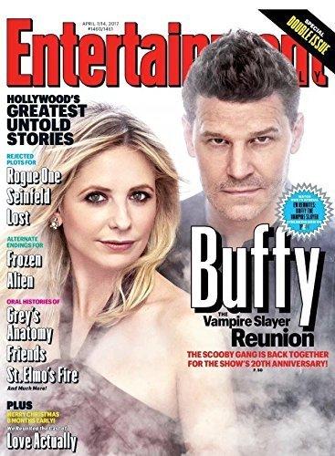 Entertainment Weekly Magazine (April 7/14, 2017) Sarah Michelle Gellar Buffy The Vampire Slayer Reunion Issue