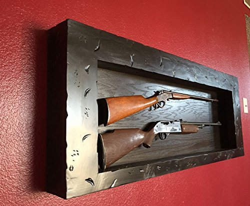 Gun Cabinet, Las Vegas, Rustic Wall Mount Gun Rack. Distressed Wood Gun Display.