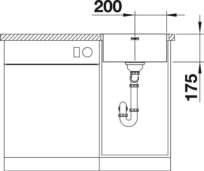 Blanco 523357 Supra 400-IF//A /Évier de cuisine en acier inoxydable Finition bross/ée Largeur 400 mm