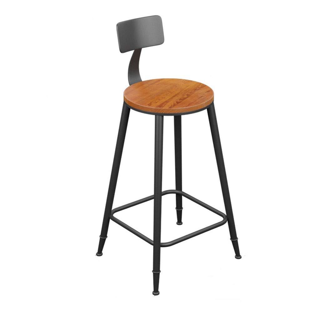 いす バースツール バースツール、ソリッドウッド製バースツール、シンプルなハイスツール、PUシート、背もたれ椅子、カフェ、朝食、キッチン、オフィスカウンターチェア(座高68cm) 背もたれ付き (色 : A*2) B07RDD1MC3 A*2