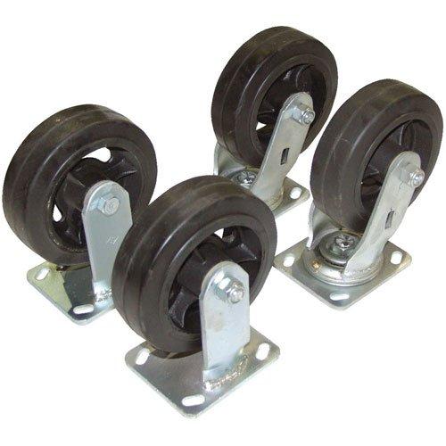(Vestil D-CK4-MR8-2Poly-On-Steel Plate Caster Set for Self-Dumping Hopper, 6