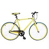 Royal London Fixie Fixed Gear Single Speed Bike - Yellow/Blue