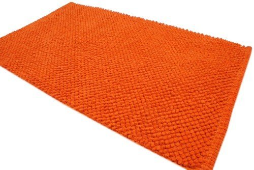 Modern Homes Orange Bubble Design Luxury Cotton Bath Mat