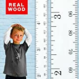 Growth Chart Art | Wooden Height Chart for Kids, Boys and Girls | Durable, Portable and Beautiful Height Measurement | White Classic Schoolhouse Ruler with Black Numerals Inches/Centimeters