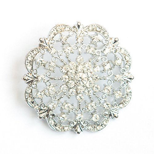 Brooches in Bulk for Weddings, Parties, and Events, 100pcs Rhinestone Brooches 2 inches -Totally Dazzled by Totally Dazzled