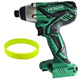 Hitachi 18-Volt 1/4-in Cordless Variable Speed and Reversible Impact driver With LED Light ,Bare Tool no Battery or Charger Included + Livemylife Wristband (Impact Driver)