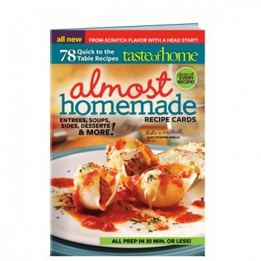 Taste of Home : Almost Homemade Recipe Cards Magazine