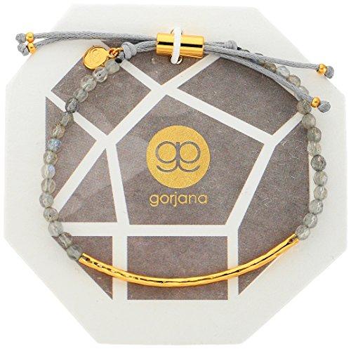 (gorjana Women's Power Gemstone Bracelet for Balance, Labradorite/Gold, One Size)