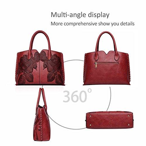 Viaggio Bag Donne Donna Crossbody Arancia Pu amp;doris Da Messenger Rosso Impermeabile Borsetta Tracolla Piccola Borsa A Nicole vqTwg4n7