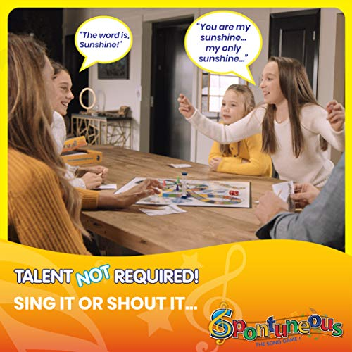 Spontuneous – The Song Game – Sing It or Shout It – Talent NOT Required – Family Party Board Game…