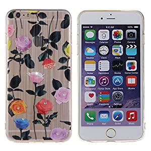 Daminfe iPhone 6 Plus/iPhone 6s Plus Cover, Studded diseño de brillantina (pintado transparente TPU suave Flexible TPU Carcasa de silicona para Apple Iphone 6s Plus/iPhone 6 Plus