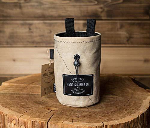 STATIC Waxed Canvas Chalk Bag | Bone (Made in the USA)