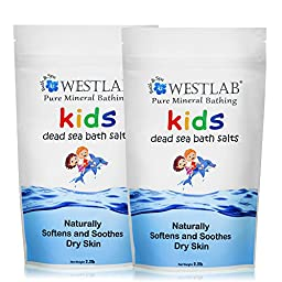 Westlab Dead Sea Salt 2 Pack (4.4lbs total) Calming, Great for Bedtime Bathing for Kids