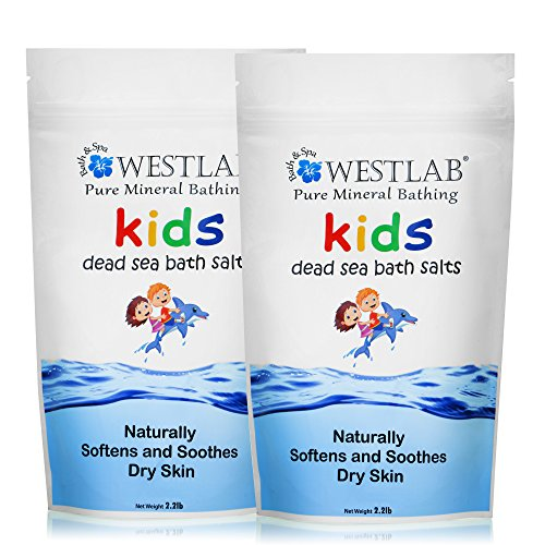 UPC 857294004777, Westlab Dead Sea Salt 2 Pack (4.4lbs total) Calming, Great for Bedtime Bathing for Kids