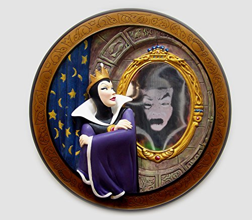 Disney Snow White Collectible Plate Evil Queen Magic Mirror 60th Anniversary by Disney