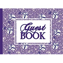 Guest Book: Purple Guestbook 100 Pages, For Kids Birthday, Baby Shower (Elegant Visitors Books)