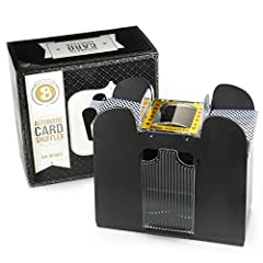Play your Cards RightCard shufflers are a practical, economic solution for avid card players and amateurs alike. Whether for elderly, seasoned players, or fresh-faced youngsters, our card shuffler guarantees a professional, truly random shuff...