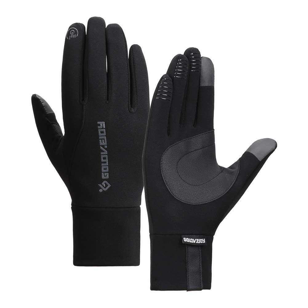 Mens Winter Warm Touchscreen Windproof Gloves with Non-Slip Palm/&Fleece Linning