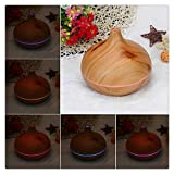 Essential Oil Diffuser, Buedvo 300ml Wood Grain Aroma Diffuser with Cool Mist and Light Control, Timer