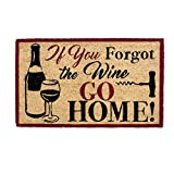DII Funny Doormat Welcome Mat, 18x30in, Forgot the Wine Deal