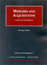 2003 Supplement to Mergers and Acquisitions (University Casebook)