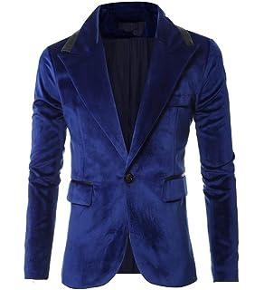 Chaqueta De Traje De Terciopelo De Los Hombres Blazer Tamaños Cómodos Blazer  Slim Fit Negocios Leisure… 010a496e0b7