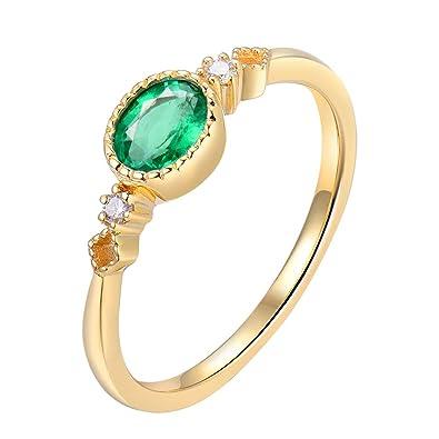 Ring Perle Und Smaragde Gelbgold Vintage 100% Original Pearl