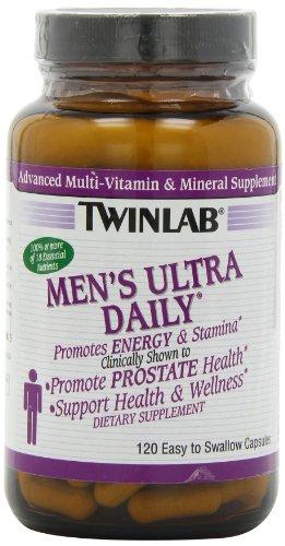 Twinlab Мужская Ультра Daily Расширенный Multi-витаминов и минералов, 120 капсул (в упаковке 2)