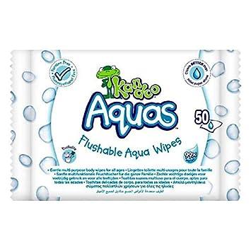 Kandoo Aquas Toallitas Húmedas 99% Agua 50 Uds