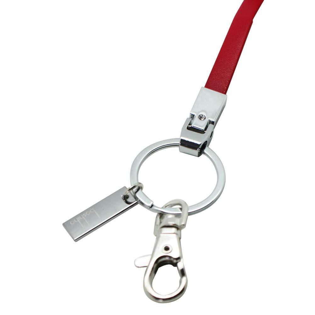 o per tenere il cellulare o altri dispositivi USB 16 Black 3 Boshiho porta badge con clip resistente e portachiavi Cordino da ufficio in pelle poliuretanica 40,64 cm