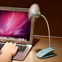 Creative Handheld Clip On USB Mini Desk Table Fan Smart Touch Portable Baby Bed Stroller Pushchair Clip Fan Electric Rechargeable Battery Home Dorm Office Desktop Personal Laptop PC Laptop Cooling Fan