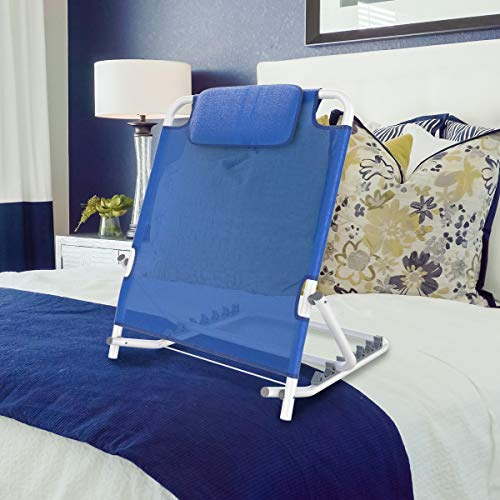Bluestone Backrest-Reclining Support Wedge Adjusts to 6 Positions for for Reading or Relaxing in Bed, Chair, or Couch-Comfort Accessories
