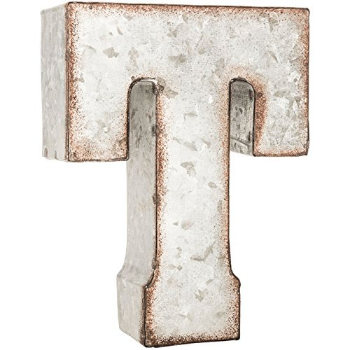 Galvanized Metal 3D Letter