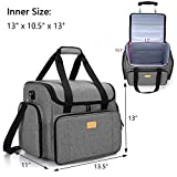 Luxja Serger Case with Detachable Trolley